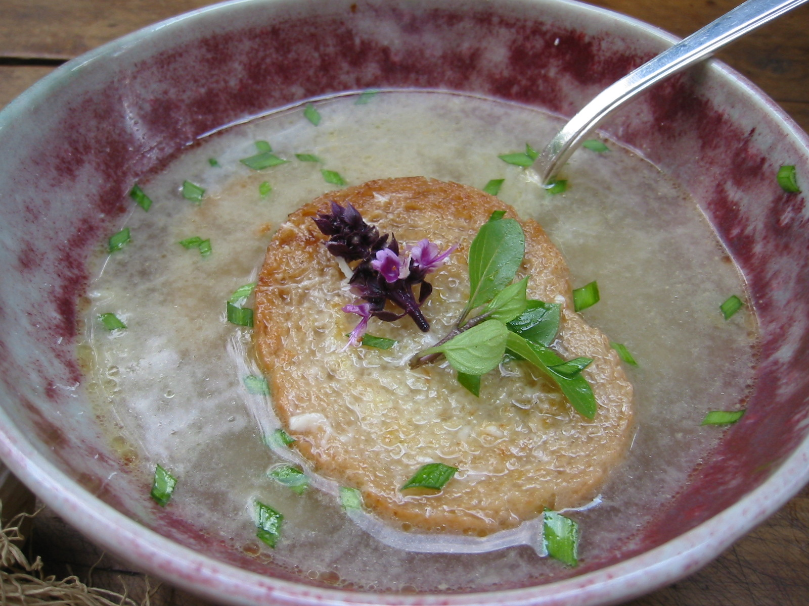 basil flower soup