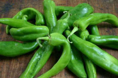 Hatch chiles, grown in New Mexico, give pork and green chile stew its fiery bite.