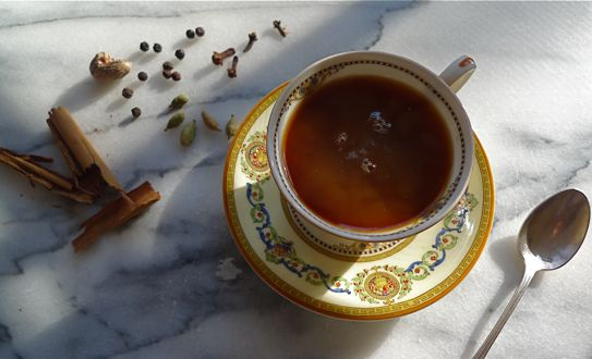 A jolt of Moroccan coffee with warming spices might put body and soul back together. The original recipe includes the coarse outer bark of the cinnamon tree as well as the more familiar spice.