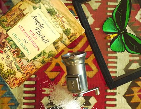 There comes a time when a trip to NYC is in order. A few necessities I couldn't find here: Two English novels in a vintage slipcover, a better salt grinder and an alluring butterfly. For supper at Pok Pok, read on...