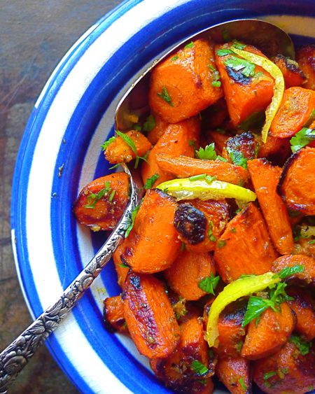 Preserved lemon gives roasted winter carrots a blast of salty, citrusy sunshine. Cumin brings out the earthiness of the carrots, while cinnamon enhances the vegetable's sweet side.