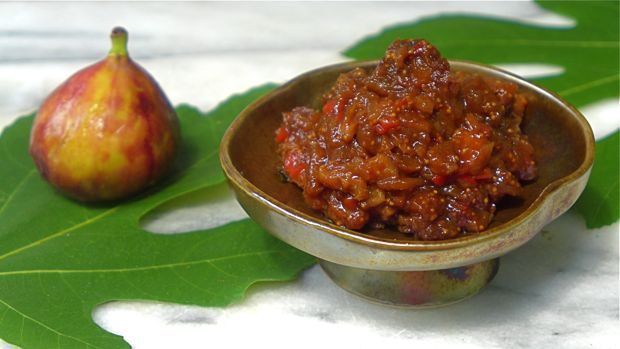 Recipe: Fig Chutney with Coriander Seed, Ginger & Sweet Red Bell ...